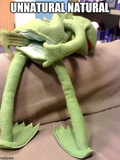Kermit anal | UNNATURAL NATURAL | image tagged in kermit anal | made w/ Imgflip meme maker