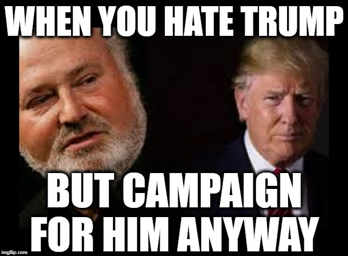 WHEN YOU HATE TRUMP; BUT CAMPAIGN FOR HIM ANYWAY | image tagged in maga,trump 2020,make america great again,triggered liberal | made w/ Imgflip meme maker
