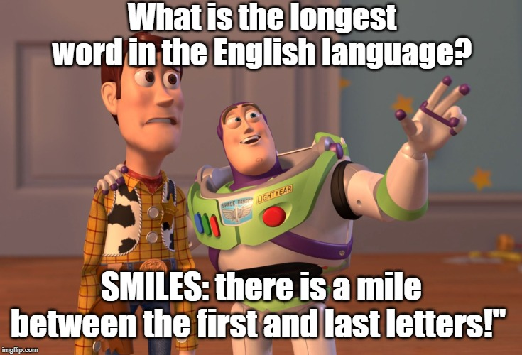 X, X Everywhere Meme | What is the longest word in the English language? SMILES: there is a mile between the first and last letters!"