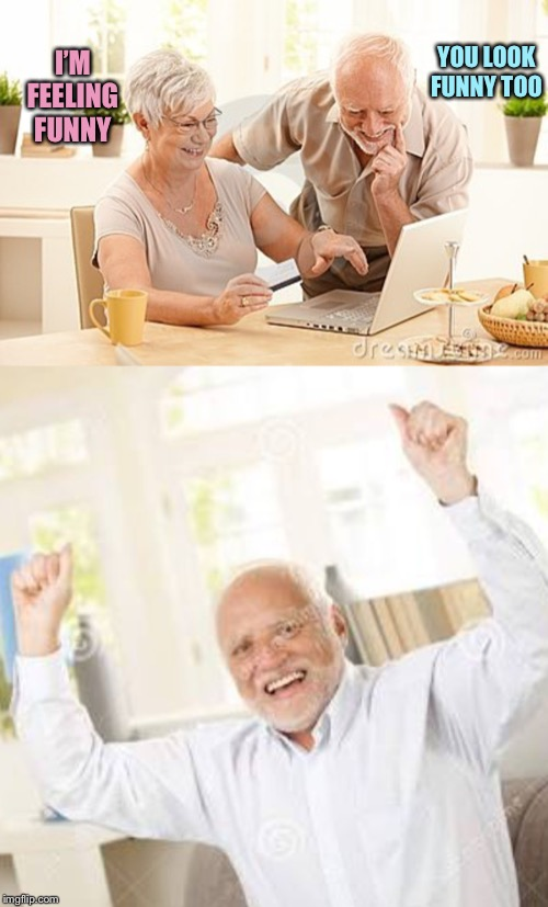 Harold Finally Wins(?) | I'M FEELING FUNNY YOU LOOK FUNNY TOO | image tagged in harold,memes | made w/ Imgflip meme maker