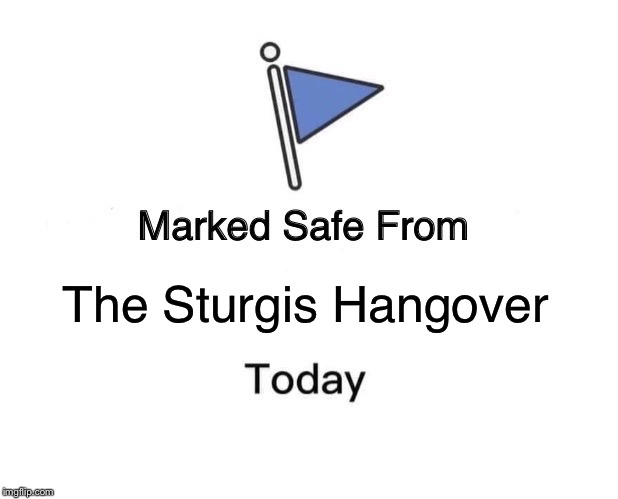 Marked Safe From Meme | The Sturgis Hangover | image tagged in memes,marked safe from | made w/ Imgflip meme maker