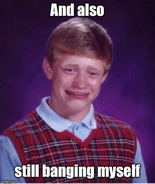 Sad brian | And also still banging myself | image tagged in sad brian | made w/ Imgflip meme maker