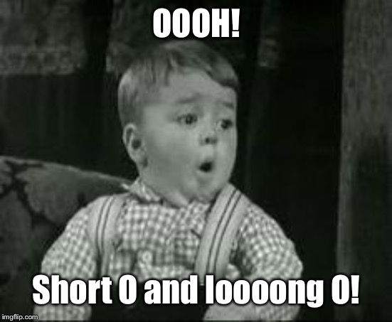 Spanky Oh Boy | OOOH! Short O and loooong O! | image tagged in spanky oh boy | made w/ Imgflip meme maker