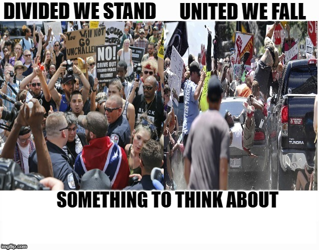 Divided We Stand United We Fall | COVELL BELLAMY III SOMETHING TO THINK ABOUT | image tagged in divided we stand united we fall | made w/ Imgflip meme maker
