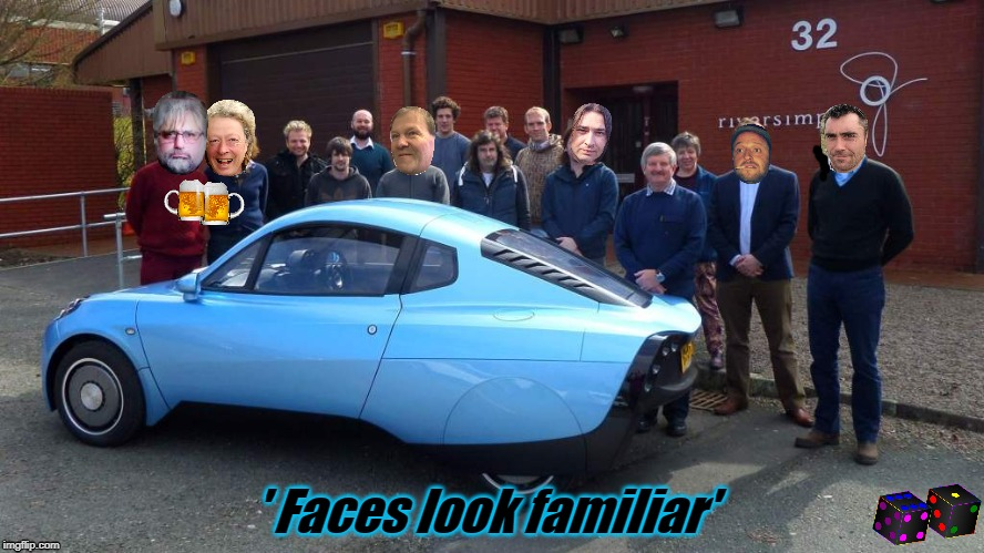 ' Faces look familiar' | image tagged in eco car | made w/ Imgflip meme maker