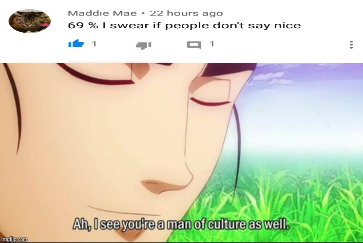 ah i see you're a man of culture as well | image tagged in ah i see you're a man of culture as well | made w/ Imgflip meme maker
