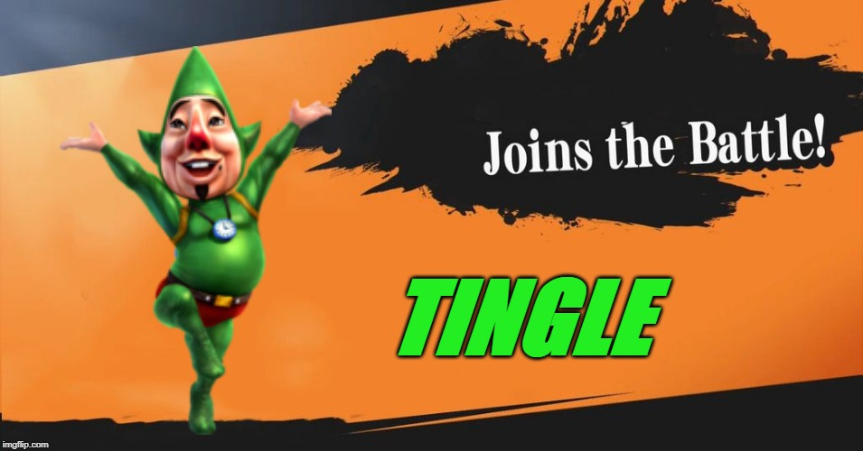 Smash Bros. | TINGLE | image tagged in smash bros,zelda,the legend of zelda,fairy | made w/ Imgflip meme maker