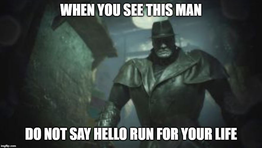 resident evil 2 remake mr x meme