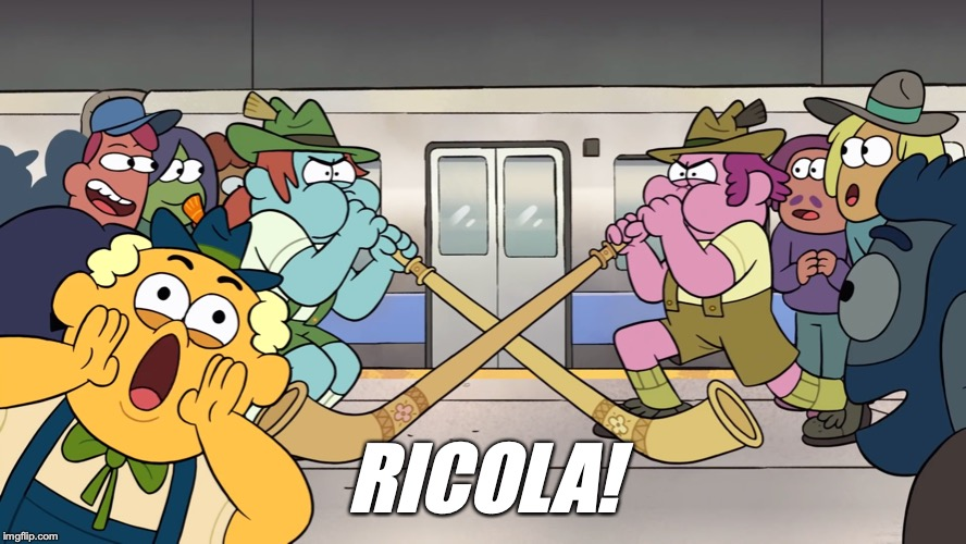 RICOLA! | image tagged in big city greens,ricola,screenshot | made w/ Imgflip meme maker