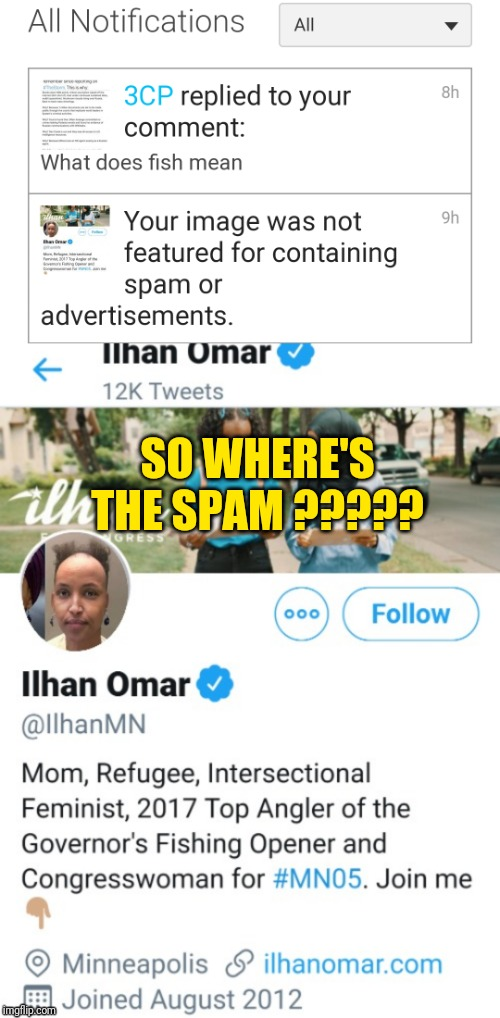 SO WHERE'S THE SPAM ????? | image tagged in imfflip based censorship | made w/ Imgflip meme maker