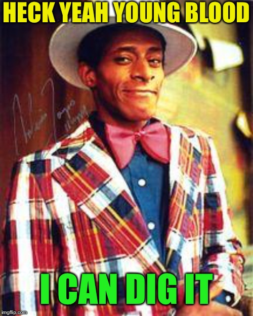 huggy bear good morning  | HECK YEAH YOUNG BLOOD I CAN DIG IT | image tagged in huggy bear good morning | made w/ Imgflip meme maker