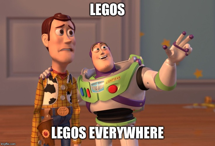 X, X Everywhere Meme | LEGOS LEGOS EVERYWHERE | image tagged in memes,x x everywhere | made w/ Imgflip meme maker