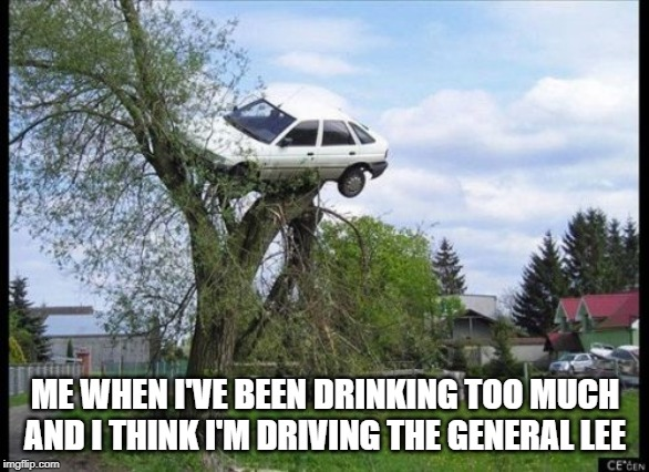 Secure Parking Meme | ME WHEN I'VE BEEN DRINKING TOO MUCH AND I THINK I'M DRIVING THE GENERAL LEE | image tagged in memes,secure parking | made w/ Imgflip meme maker