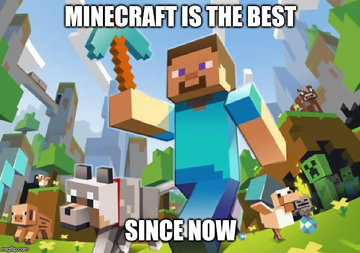 Minecraft  | MINECRAFT IS THE BEST SINCE NOW | image tagged in minecraft | made w/ Imgflip meme maker