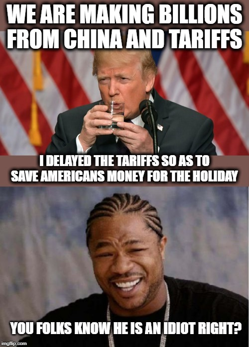 "Lets stop ""making money"" for the holidays. 