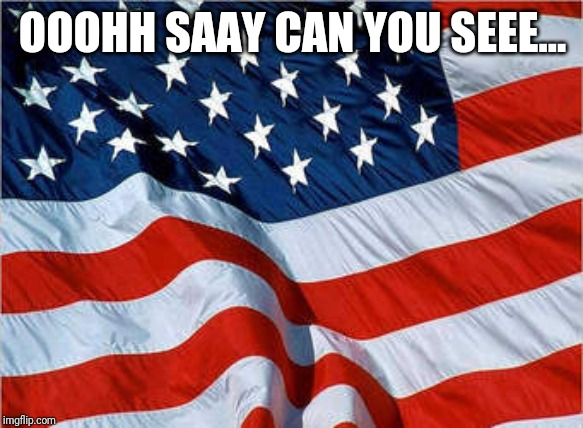 USA Flag | OOOHH SAAY CAN YOU SEEE... | image tagged in usa flag | made w/ Imgflip meme maker