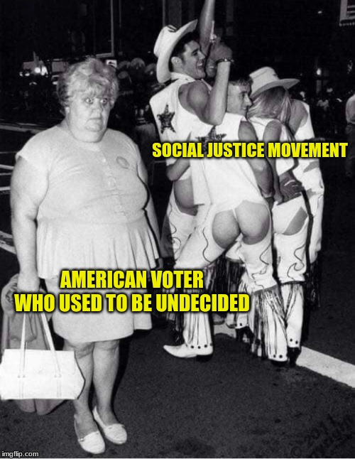 For Every Action | SOCIAL JUSTICE MOVEMENT AMERICAN VOTER WHO USED TO BE UNDECIDED | image tagged in social justice,political humor,knowing when to quit,american voter,america | made w/ Imgflip meme maker