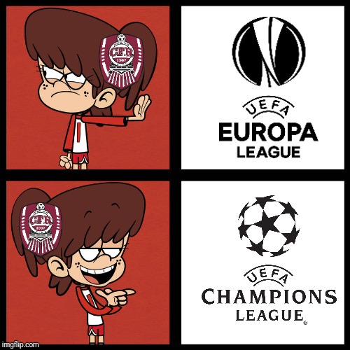 Cluj fans everyday | image tagged in memes,cfr cluj,hotline bling,the loud house,funny | made w/ Imgflip meme maker