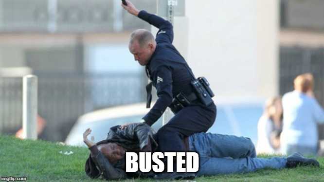 Cop Beating |  BUSTED | image tagged in cop beating | made w/ Imgflip meme maker