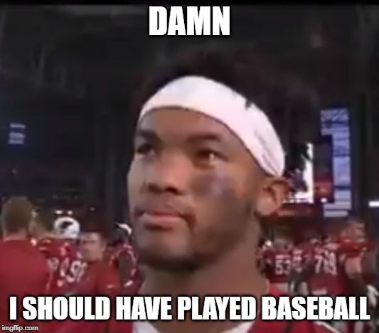 DAMN I SHOULD HAVE PLAYED BASEBALL | image tagged in football,damn | made w/ Imgflip meme maker
