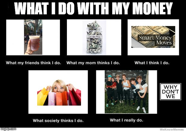 What I really do | WHAT I DO WITH MY MONEY | image tagged in what i really do | made w/ Imgflip meme maker