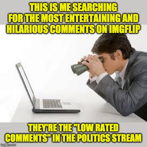 "There are some crazy, although ""low rated"" ideas floating around over there sometimes . . . 