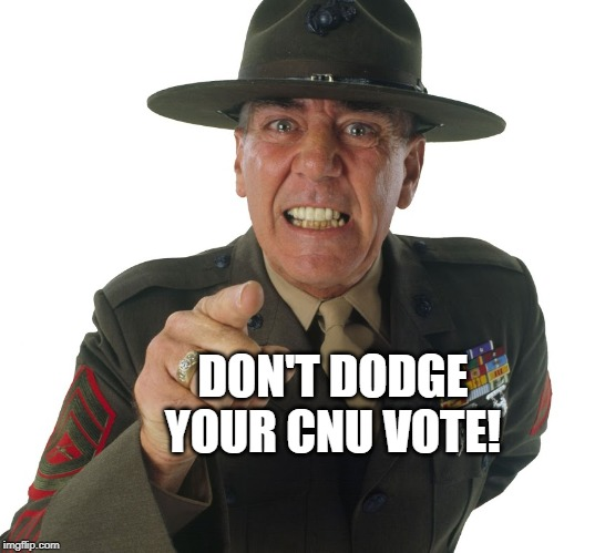 DON'T DODGE YOUR CNU VOTE! | made w/ Imgflip meme maker