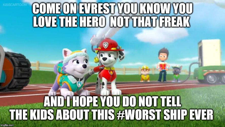 Everest X Marshall Paw Patrol Memes Imgflip
