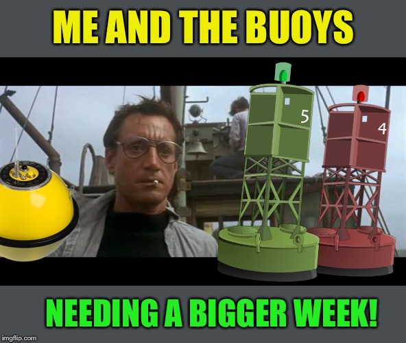 Me and the Boys Week-Aug 19th-25th (A Nixie.Knox and CravenMoordik event) | ME AND THE BUOYS NEEDING A BIGGER WEEK! | image tagged in jaws bigger boat,me and the boys week | made w/ Imgflip meme maker
