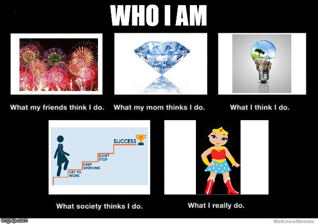 What I really do | WHO I AM | image tagged in what i really do | made w/ Imgflip meme maker