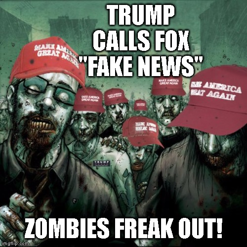 Image result for trump zombie like followers gif