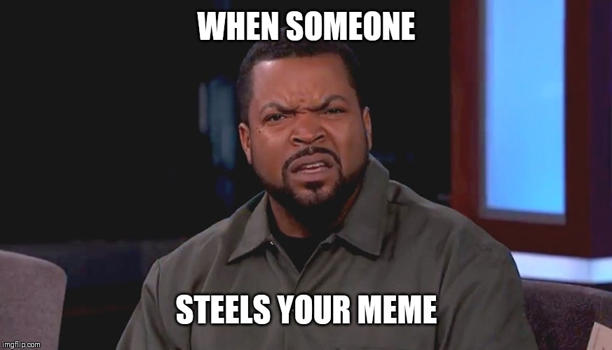 Really? Ice Cube | WHEN SOMEONE STEELS YOUR MEME | image tagged in really ice cube | made w/ Imgflip meme maker