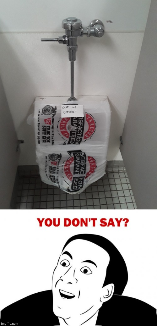Could be a waterfall | image tagged in memes,you don't say,tractor supply,44colt,funny,restroom | made w/ Imgflip meme maker