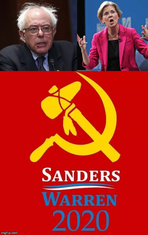 Great campaign logo | image tagged in bernie sanders,elizabeth warren,political meme | made w/ Imgflip meme maker