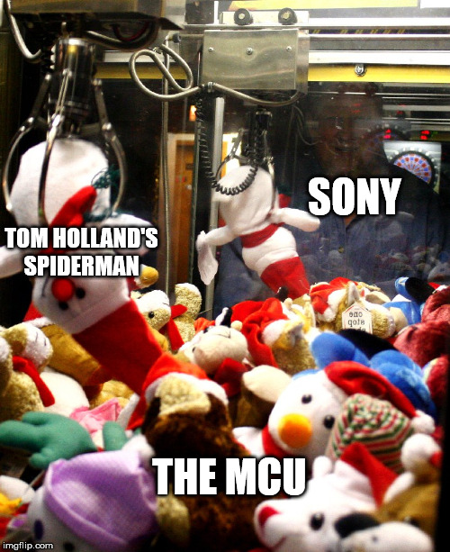 Just something to show my hate for Sony | SONY TOM HOLLAND'S SPIDERMAN THE MCU | image tagged in marvel,spiderman,tom holland,memes,funny,sony | made w/ Imgflip meme maker