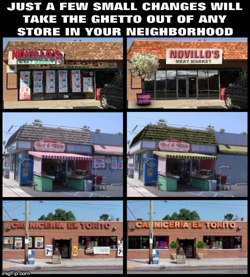 rando | image tagged in ghetto,grocery store,neighborhood,before and after,makeover,change | made w/ Imgflip meme maker