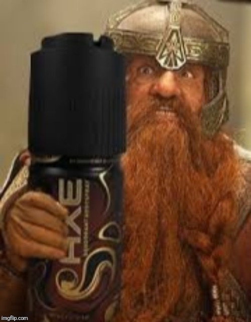 You have my axe body spray deodorant Gimli | image tagged in you have my axe body spray deodorant gimli | made w/ Imgflip meme maker