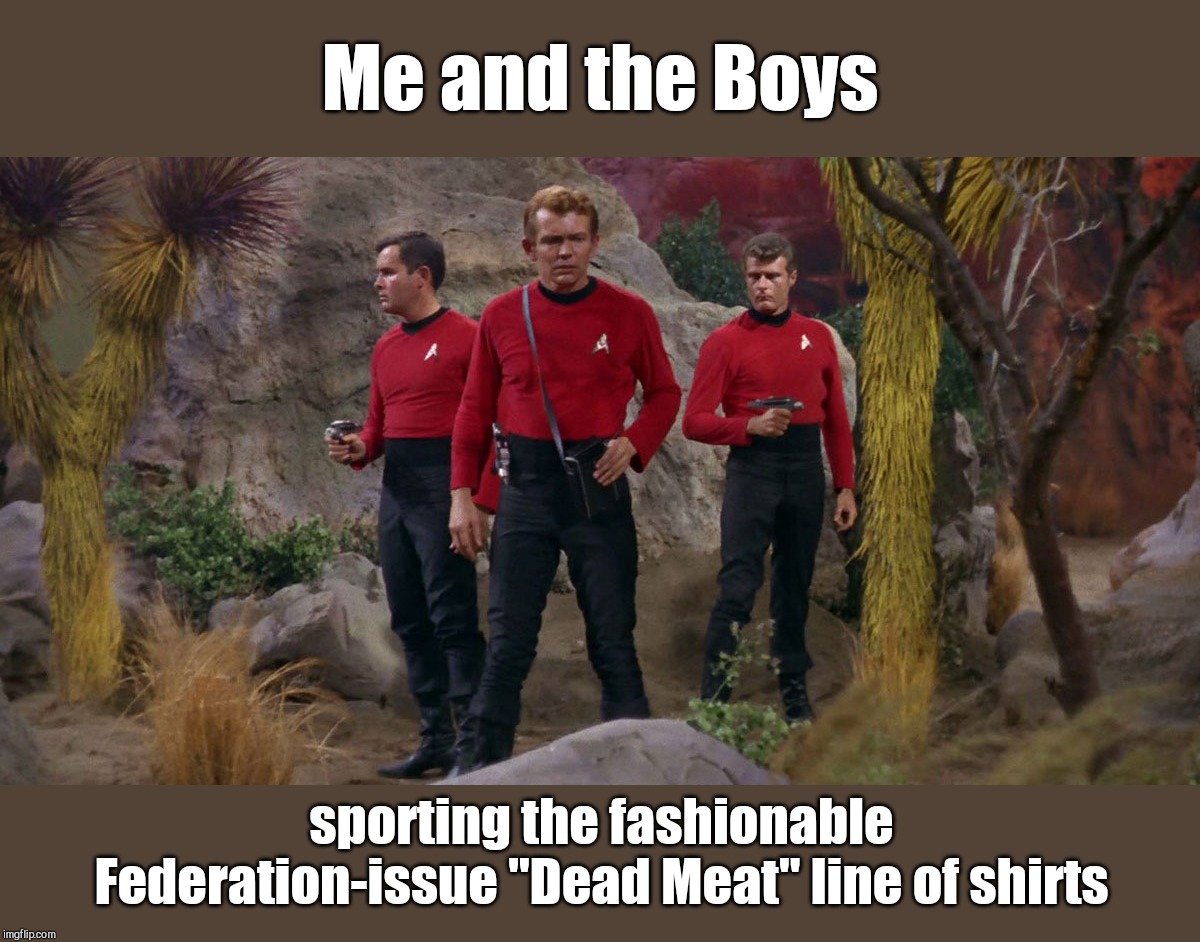 "Me and the boys week - a Nixie.Knox and CravenMoordik event - Aug 19-25 | Me and the Boys sporting the fashionable Federation-issue ""Dead Meat"" line of shirts 