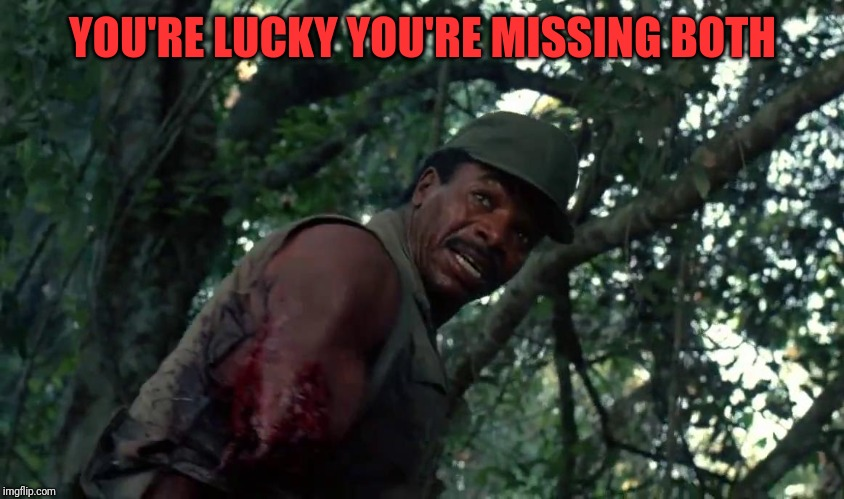 YOU'RE LUCKY YOU'RE MISSING BOTH | made w/ Imgflip meme maker