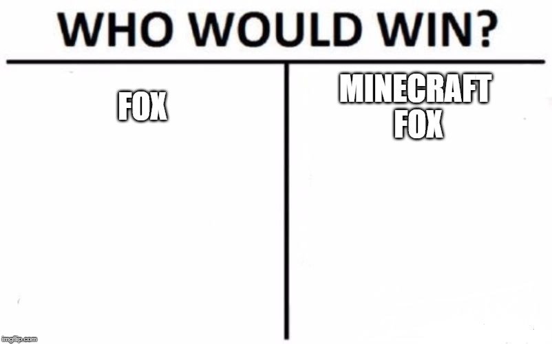 Who Would Win? | FOX MINECRAFT  FOX | image tagged in memes,who would win | made w/ Imgflip meme maker