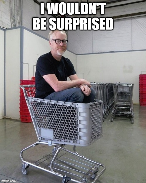 Mythbusters | I WOULDN'T BE SURPRISED | image tagged in mythbusters | made w/ Imgflip meme maker