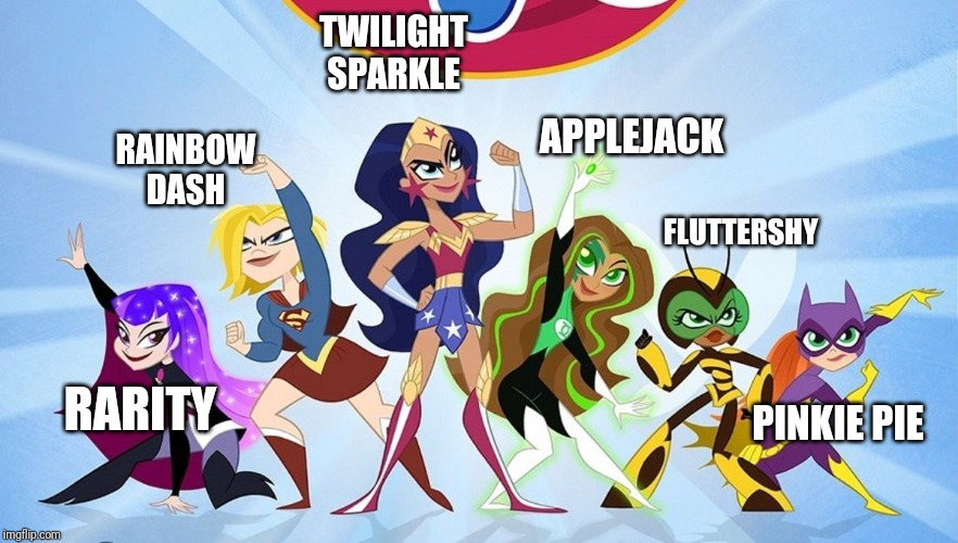 RARITY RAINBOWDASH TWILIGHTSPARKLE APPLEJACK FLUTTERSHY PINKIE PIE | image tagged in mylittlepony | made w/ Imgflip meme maker