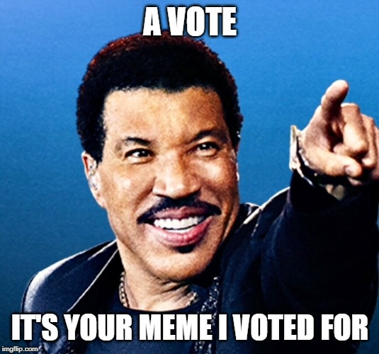 A VOTE IT'S YOUR MEME I VOTED FOR | made w/ Imgflip meme maker