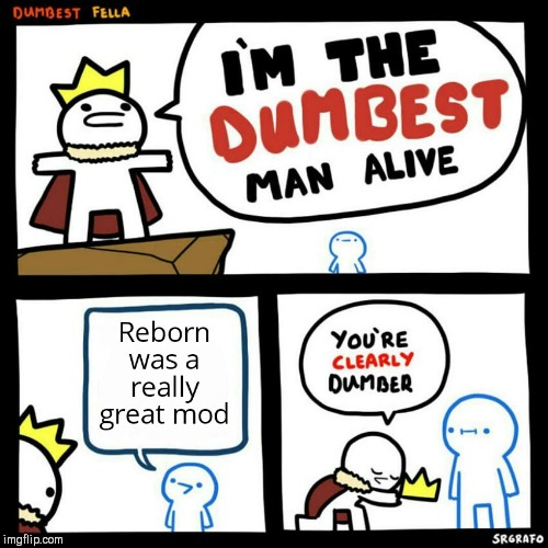 Pretty much | image tagged in reborn,mods,funny | made w/ Imgflip meme maker