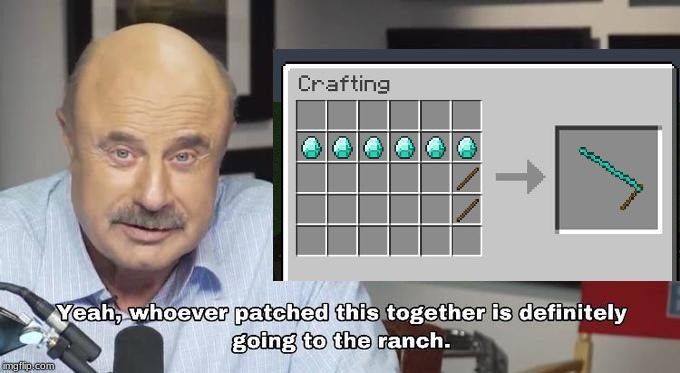 image tagged in minecraft,dr phil | made w/ Imgflip meme maker