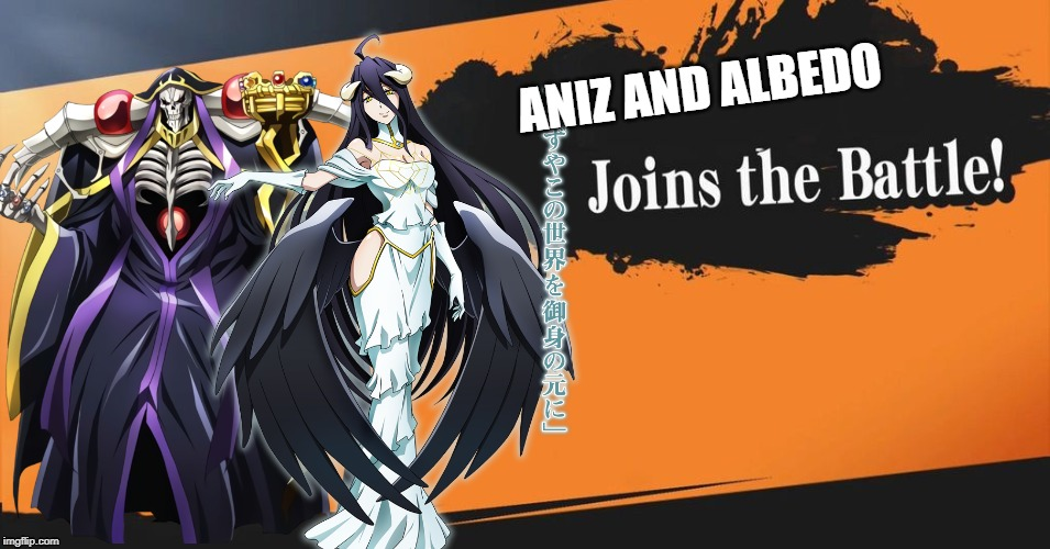 Smash Bros. | ANIZ AND ALBEDO | image tagged in smash bros | made w/ Imgflip meme maker