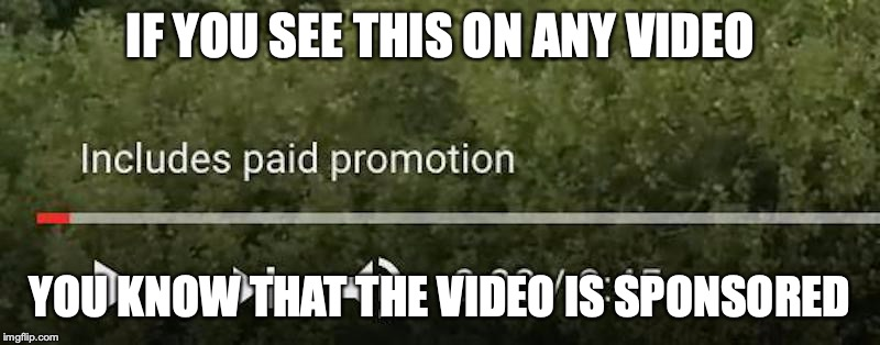 """Includes Paid Promotion"" Tag 