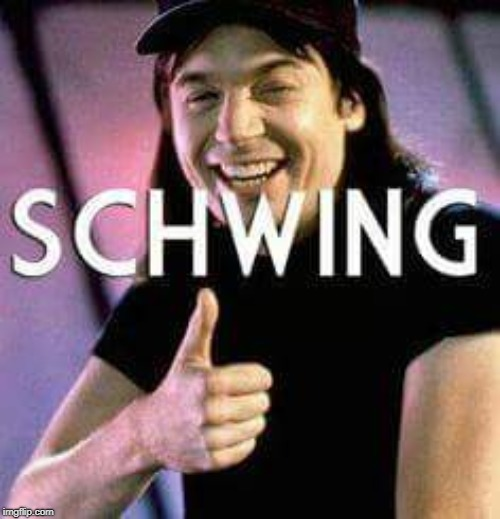 Schwing | image tagged in schwing | made w/ Imgflip meme maker