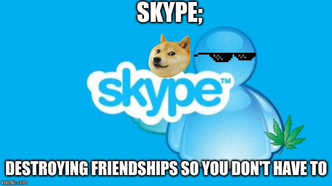 Skype |  SKYPE;; DESTROYING FRIENDSHIPS SO YOU DON'T HAVE TO | image tagged in memes,skype | made w/ Imgflip meme maker