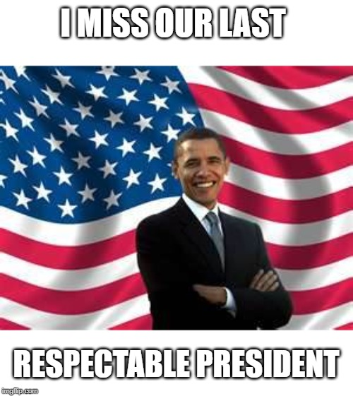 Remember when there was class in the white house representing us? | I MISS OUR LAST RESPECTABLE PRESIDENT | image tagged in memes,obama,maga,impeach trump,god bless america | made w/ Imgflip meme maker